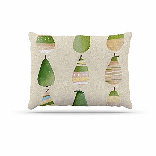 KESS InHouse Judith Loske ''Happy Pears'' Green Gold Dog Bed, 30'' x 40'' by Kess InHouse