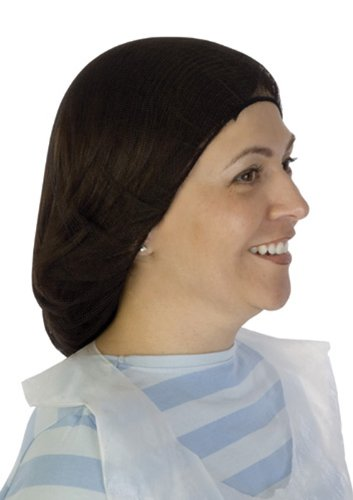 Liberty A1924 Soft Nylon Hairnet with 1/8'' Honeycomb Pattern Holes, 24'' Diameter, Brown (Case of 1000) by Liberty Glove & Safety