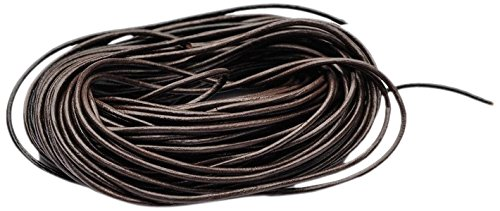 Beads Unlimited 1 mm Superior Leather Thong, Pack of 10 m, Brown LTN14-10