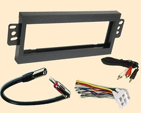 radio stereo install single din dash kit + wire harness + antenna adapter  for gmc jimmy 1998 1999 2000 2001, gmc sonoma 1998, isuzu hombre 98 99  2000,