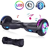 """EPCTEK Hoverboard Self Balancing Electric Scooter 6.5"""" Two-Wheel UL 2272 Certified hoverboards for Kids with Bluetooth Speaker LED Light Flashing Lights on Wheels Free Carry Bag"""