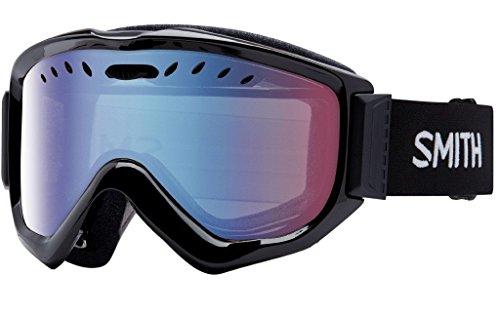 (Smith Optics Adult Knowledge OTG Snow Goggles Black Frame/Blue Sensor Mirror)