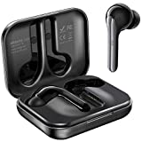 True Wireless Earbuds, MEBUYZ Bluetooth 5.0 Headphones TWS in-Ear Earphones with aptX Sound, CVC Noise-Cancelling Dual Microphones, Charging Case, Touch Control, 28-H Playtime and Secure Fit (Black)