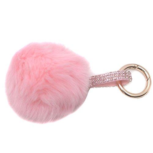 melie-bianco-girls-pink-faux-pom-pom-rhinestone-keychain
