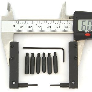 Anytime Tools 4 Points Dial/Digital Caliper Attachment Accessory Extension Set for Deep Measuring