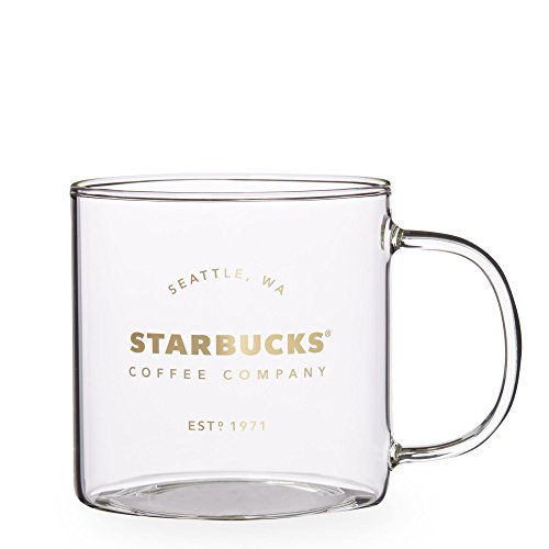 Starbucks Seattle Pike Place Heritage Glass Mug, 18 fl ()