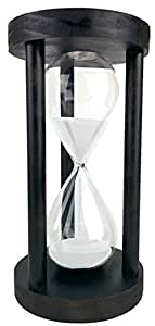 Cray Cray Supply Sleek Circle Black Hourglass with White Sand