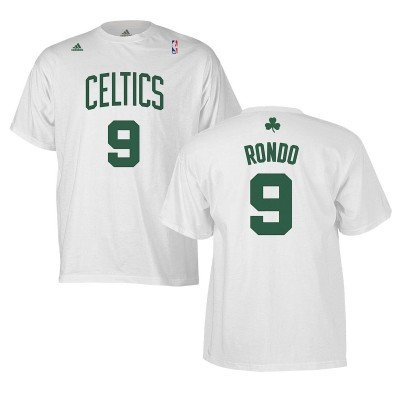 the latest 43905 9708b adidas Boston Celtics Rajon Rondo White T Shirt