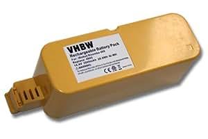 BATERÍA NI-MH para aspiradoras 2000mAh 14.4V color amarillo para iRobot Roomba 400, 410, 4100, 4210, 4905 etc. sustituye 11700, 17373