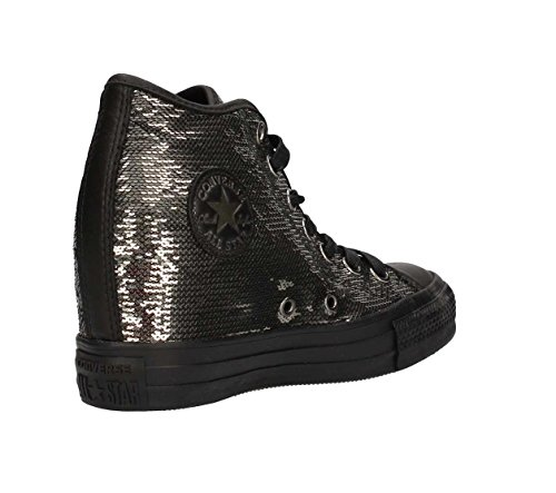 Ctas Mid Silver Nero Sneakers CONVERSE Lux Metallic Black 559048C RqCwC1