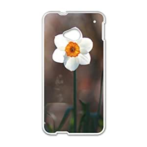 Cute White Flowers personalized creative custom protective phone case for HTC M7