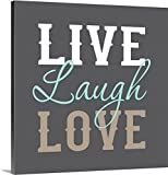 Canvas On Demand Tamara Robinson Premium Thick-Wrap Canvas Wall Art Print, 30'' x 30'', entitled 'Live Laugh Love'