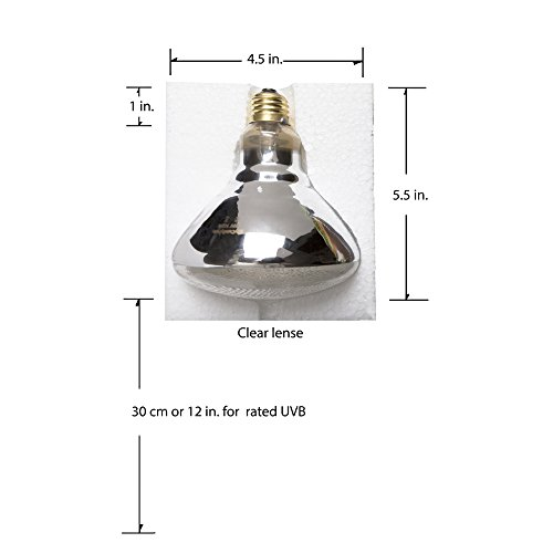 Evergreen Pet Supplies 100 Watt Uva Uvb Mercury Vapor Bulb Lamp Light For Reptile And Amphibian