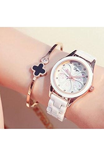 Generic White ceramic watches ladies fashion models Korean version of the trend of casual dress waterproof Shi Ying watch high school students