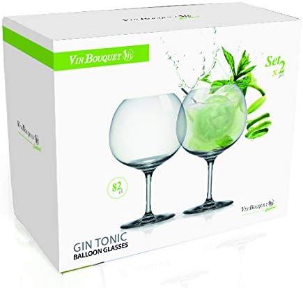 Vinbouquet FIK 023 Set Dos Copas de Gin Tonic, Cristal de Bohemia, 26.2 x 13.2 x 21.2 cm, 2 Pack: Amazon.es