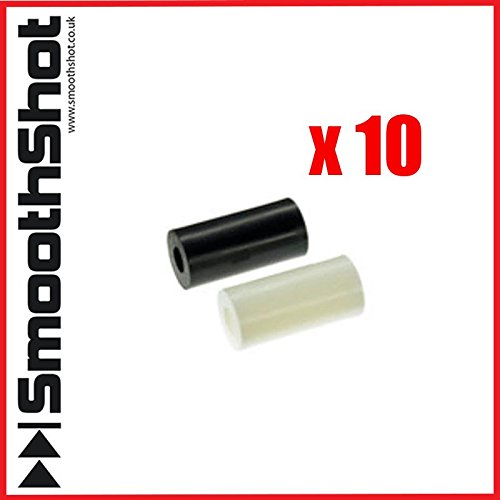 sourcingmap/® Plastic Round Non-threaded Insulation Column Standoff Support Spacer Washer 15x10mm 12pcs White