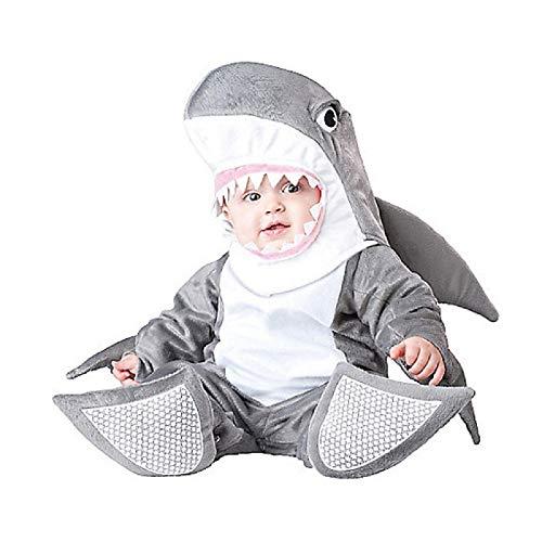 Baby's Animal's Costume Romper Christmas Animal Dress up (L, Shark) -