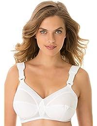 Women's Plus Size Rigid Side Bandeau Bra Beige,48 B