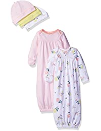 Carter's Girls' 5-Piece Gown and Cap Set