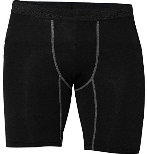 Maoko Black Sports Running Pro Compression Shorts Underwear for Men