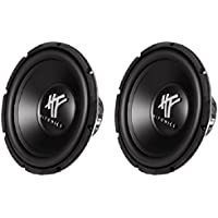 Hifonics HFX12D4-PAIR 400-Watt 12-Inch HF Series Dual 4-OHM Subwoofer, Set of 2