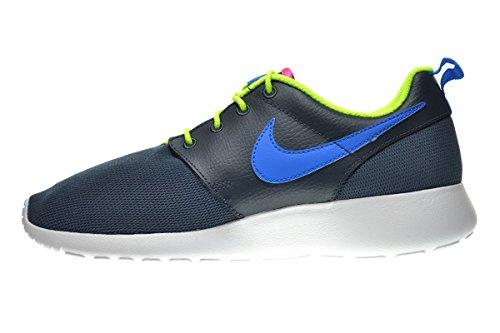 2135445b644a Nike Roshe Run (GS) Big Kids Shoes Dark Magnet Grey Photo Blue-Volt ...