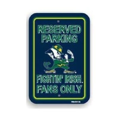 18' Plastic Parking Sign - Notre Dame Fighting Irish 12'' X 18'' Plastic Parking Sign Notre Dame Fighting Irish 12'' X 18'' Pl