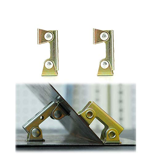 XINdream V Type Welding Clamps, 2 PCS Holder Suspender Fixture Adjustable Pads Magnetic Tab Durable Hard Stainless Steel Strong Hand Tool (Yellow)
