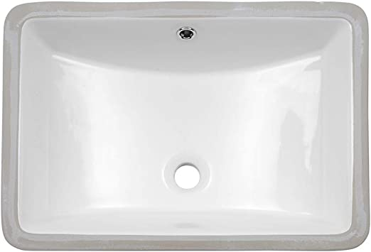 Lordear 21 Inch Rectangle Bathroom Vessel Sink Undermount Porcelain Ceramic Lavatory Bathroom Vanity Sink With Overflow Amazon Com
