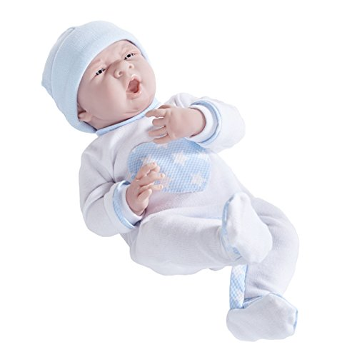 JC Toys La Newborn in Cuddly White Pajamas. Realistic 15