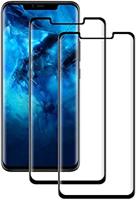 POOPHUNS Cristal Templado Huawei Mate 20 Pro, 2-Unidades Protector ...