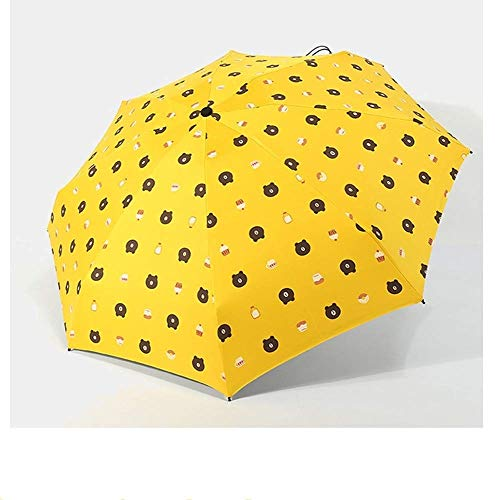 (DJSMys Bone Black Glue Sunscreen Umbrella Ultra Light Mini Pocket Umbrella Small Sun Umbrella Anti-Ultraviolet Parasol (Color : D))