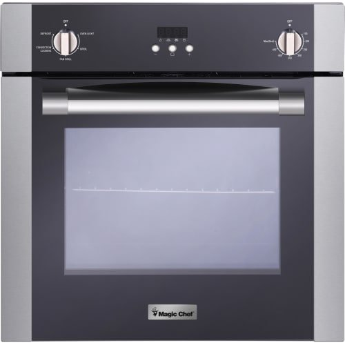 Magic Chef MCSWOE24S 24″ 2.2 cu. ft. Single Wall Oven with Convection, Stainless Steel