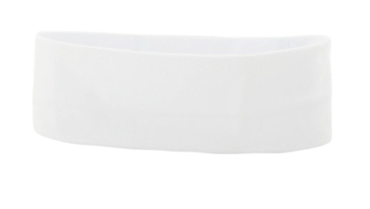 Wholesale Printable Cotton Headbands (12 Pack) (White)
