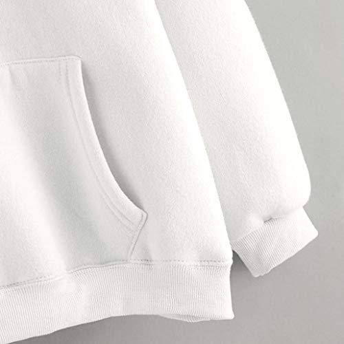 Para Escudo Mujeres Blusa Cuello De Blanco En Las Manga Ropa Cálido Tops Larga Suelta Color Camisetacasual Otoño V Sudadera Mujer sonnena Con fRzdxdq