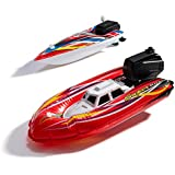 Toy Boat, Baby bath Toys for toddlers, Pool Toys For Kids, 2 Boat toys for bathtub & the pool for kids, toy boats for water play, 1 x Battery Operated, 1 x Wind Up Speed Boat toy