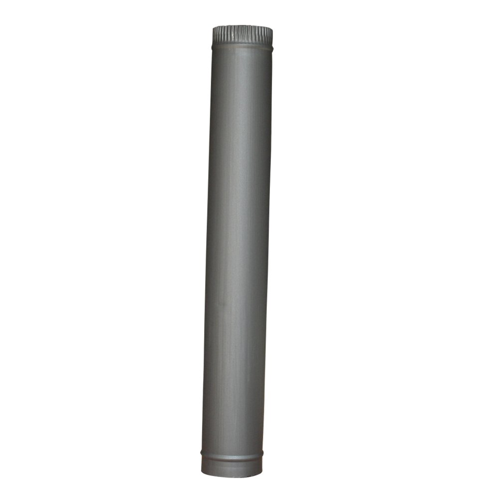 "Lincsfire 5"" 920mm Straight Length of Flue Pipe Chimney for Wood Log Burning Multifuel Stove"