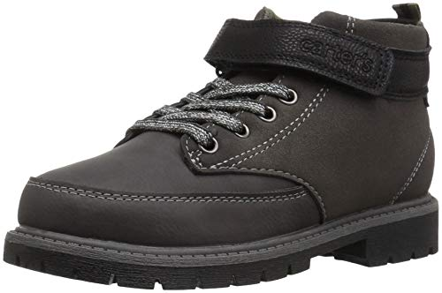 Carter's Boys' Pecs Ankle Boot, Brown, 13 M US Little (Back Lace Boots)