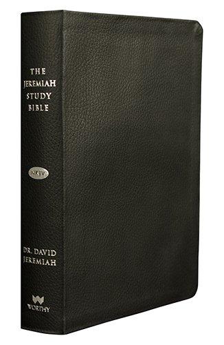 The Jeremiah Study Bible, NKJV: Black Genuine Leather w/thumb index, by David Jeremiah