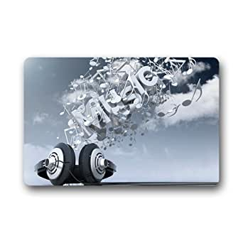 Nueva moda música Nota Custom decorativa Felpudo (23,6x 15,7) se puede lavar a máquina antideslizante Felpudo personalizado