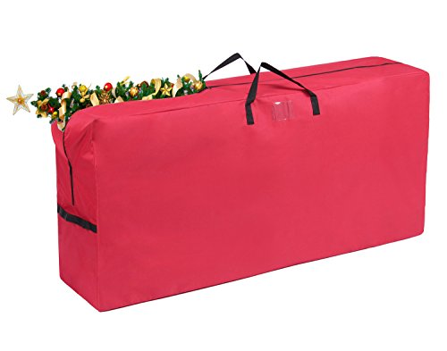 Vencer Heavy Duty 600D Oxford Christmas Tree Storage Bag Fit Upto 9 Foot Artificial Tree Holiday Red Extra Large Dimensions 65 x 30 x 15,VHO-005