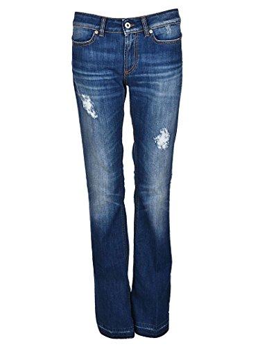 Dondup Dp126ds107dr03tdhi800 Donna Jeans Blu Cotone rqrTwnA4