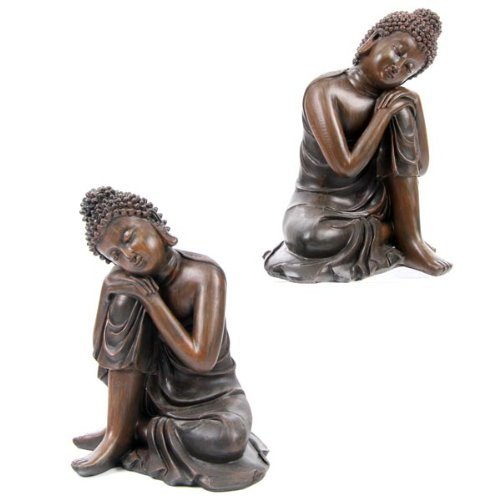 Wood Effect Buddha Head - Wood Effect Buddha Head on Knee, 2 Assorted Designs Sold Separately by Puckator