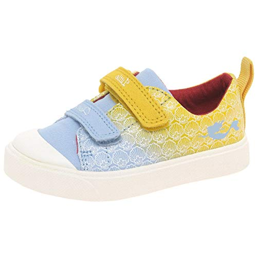 Clarks unisex-child City Shell T Low-Top Sneakers