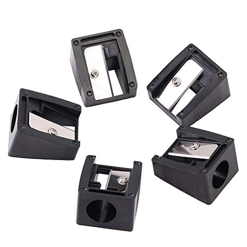 Xx Sharpener (20 Pcs Bulk Manual Professional Pencil Sharpeners, 16mm Large Hole for Fat Lip Liner Eyeliner)