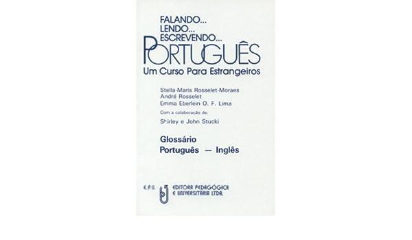 Falando   Lendo   Escrevendo   Portugues Glossario Portugues