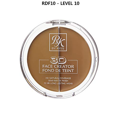 3D FACE CREATOR (RDF10) - Ruby Kisses HD 2 Color Foundation + Concealer