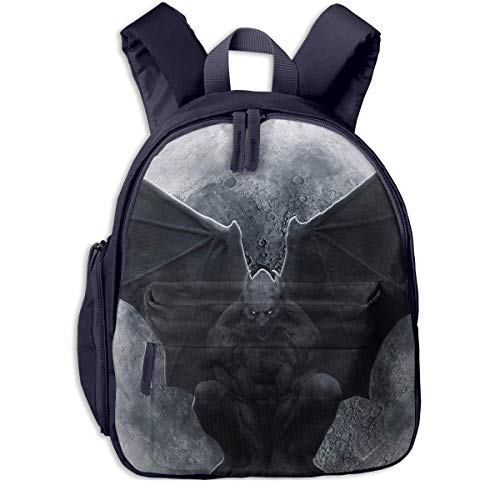 luickyw Halloween Gargoyle Wings Animated Children School Bag Book Backpack Outdoor Travel Pocket Double Zipper]()