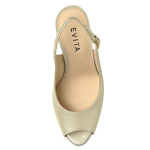 Evita - Sandalias de Vestir Mujer - nacre