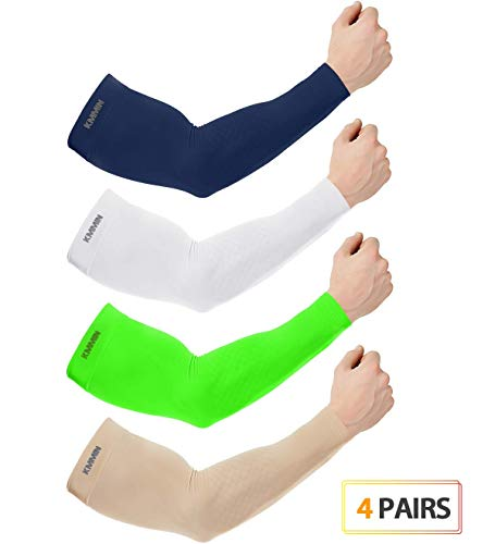 1f8f70cf23 KMMIN Arm Sleeves, UV Protection Sleeves for Driving Cycling Golf Basketball  Warmer Cooling Arm Sleeves UPF 50 Sunblock Protective Gloves for Men Women  ...